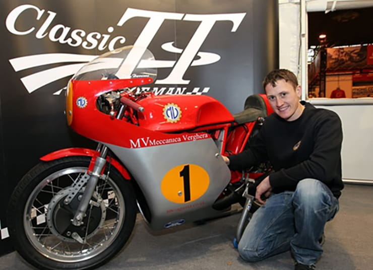 Dean Harrison with the gorgeous MV Agusta