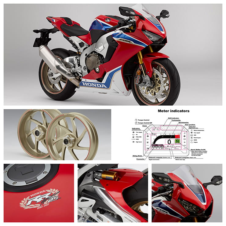 Honda Fireblade in detail
