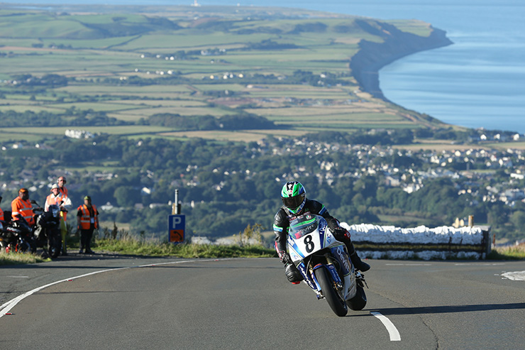 Ivan Lintin in qualifying for the Superbike Classic TT