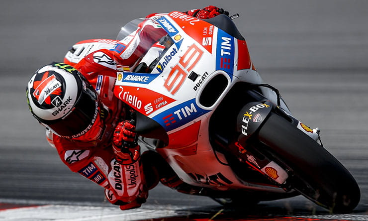 Jorge Lorenzo onboard his 2017 steed - the Ducati
