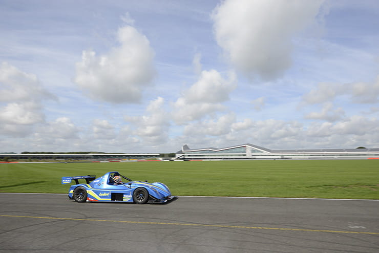 Vinales in the Radical at Silverstone