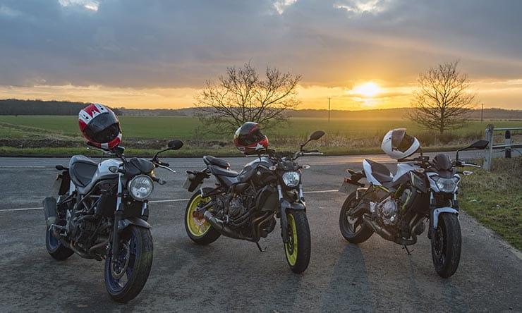 2017 Kawasaki Z650 Meets Its Rivals Suzuki Sv650 And Yamaha Mt 07