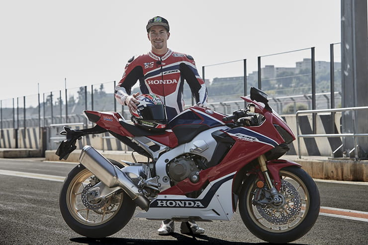 Nicky Hayden with the new Fireblade
