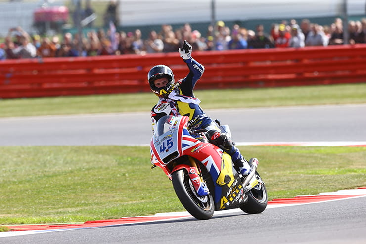 Redding wins the British Moto2 race in 2013