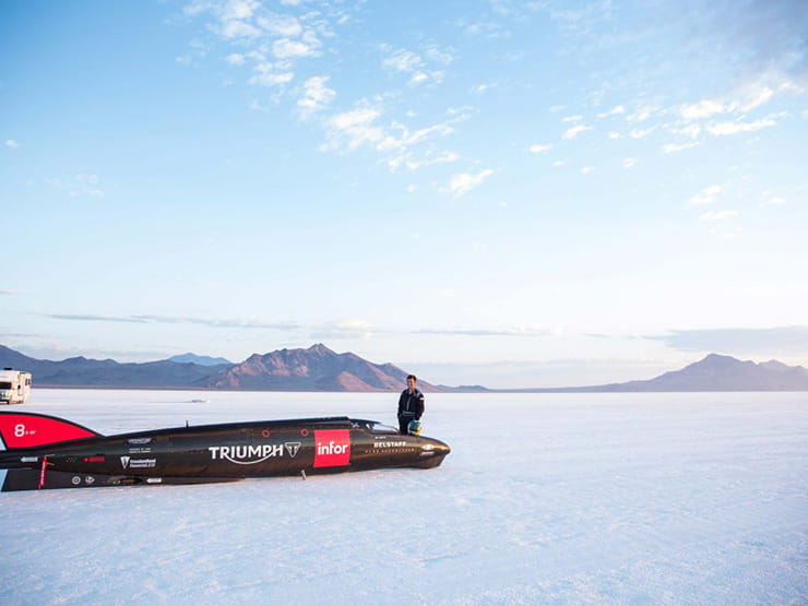Triumph on the salt flats