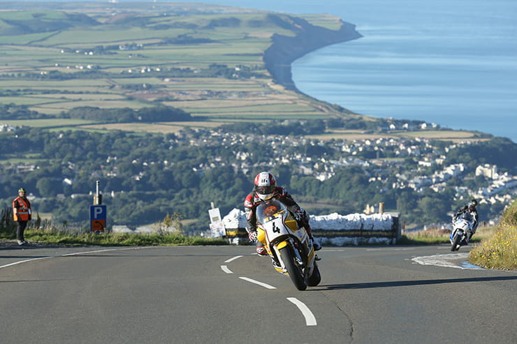 Michael Rutter at Guthries, climbing the Mountain