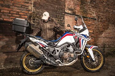 Top box on an Africa Twin is more than just practical