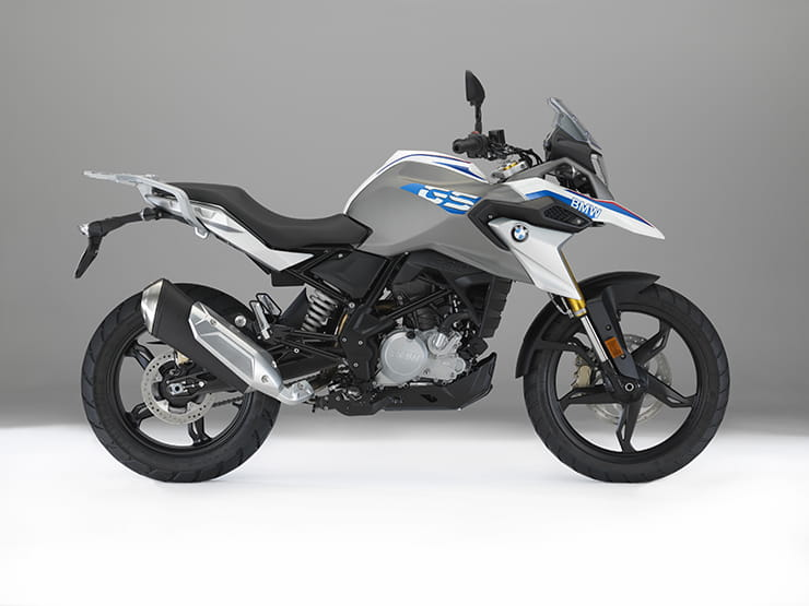 The production version of the G310 GS features a much lower exhaust design