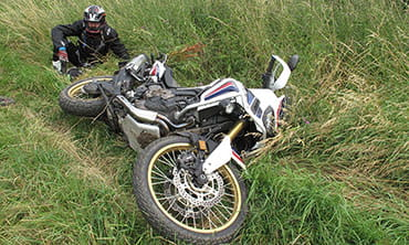 Crashed Africa Twin