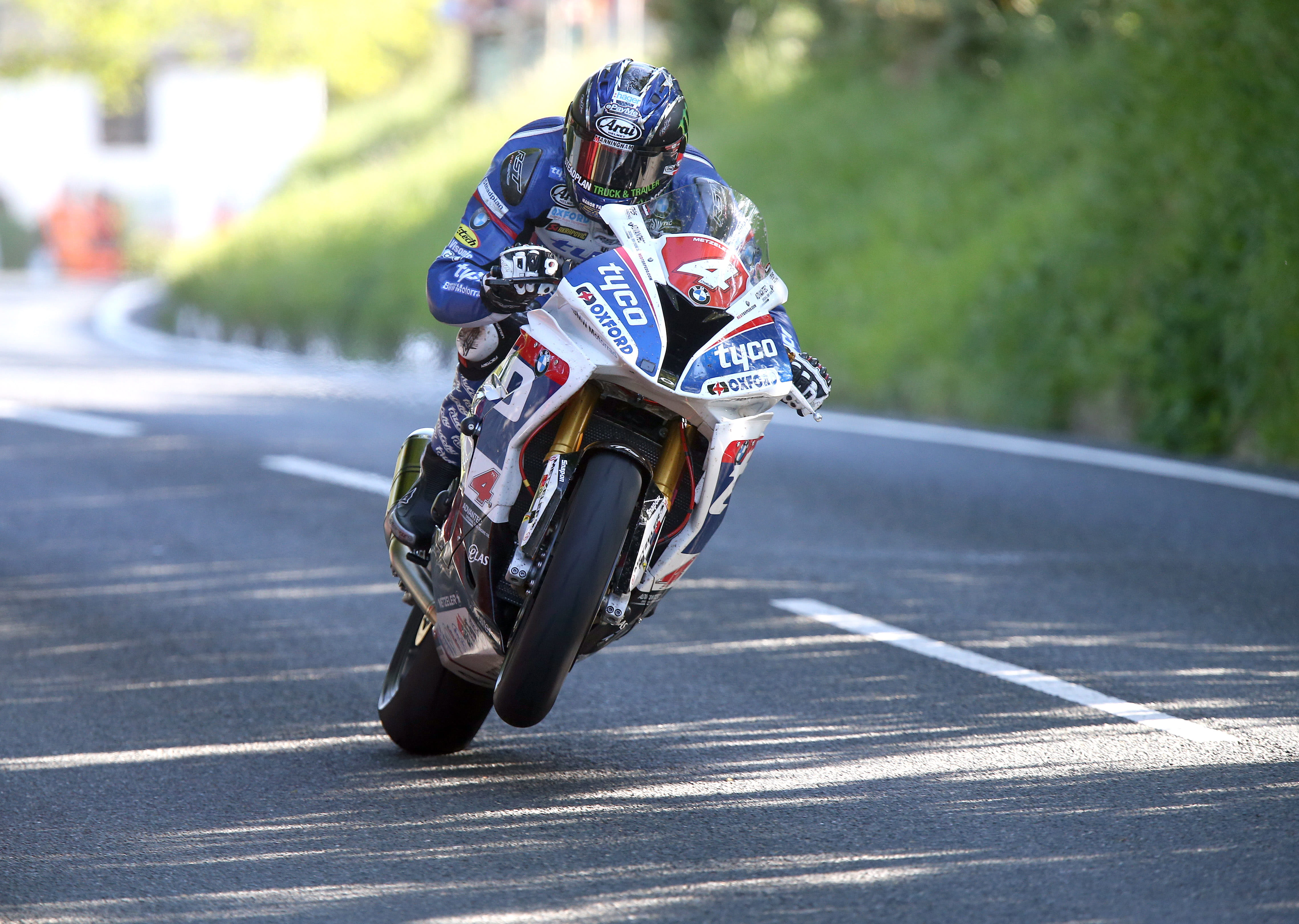 Ian Hutchinson, 14-times TT race winner, here on the Tyco BMW in 2016
