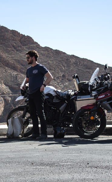 The Tempest Two ride to the Sahara on Triumph Tiger 800s