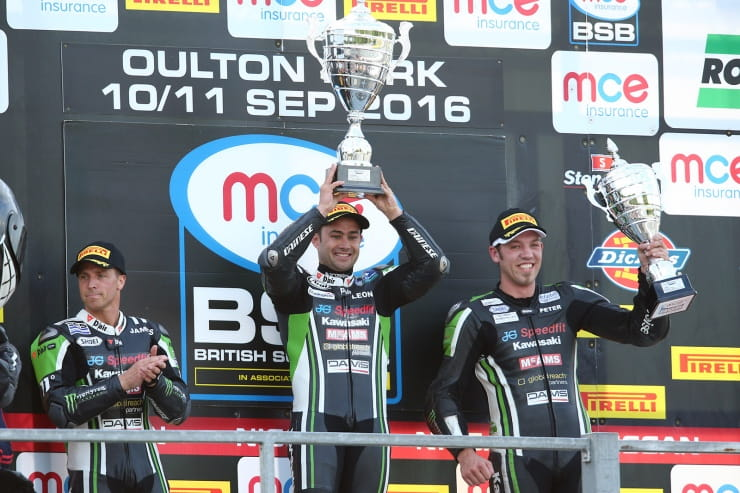 The JG Speedfit Kawasaki Top 3 at Oulton