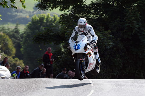 John McGuinness on the Mugen on the Isle of Man TT Mountain Course
