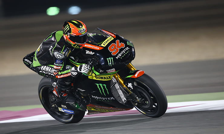 Jonas Folger under the lights at Qatar in pre-season testing