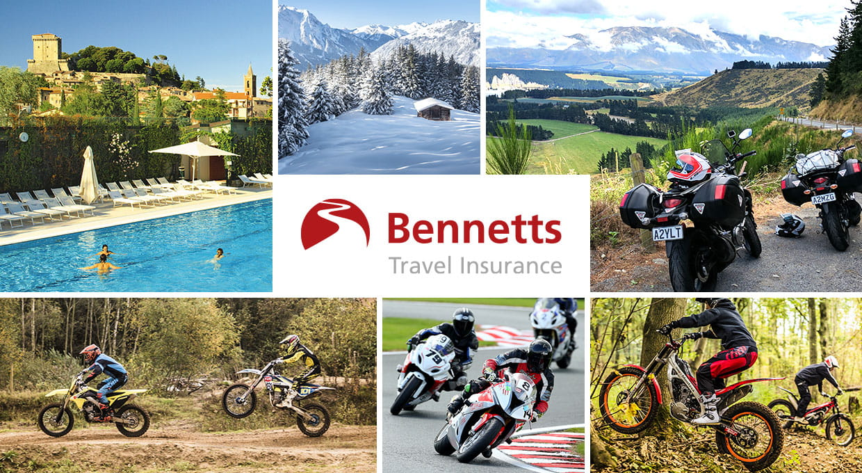 Bennetts Motorcycle Travel and Activity Cover