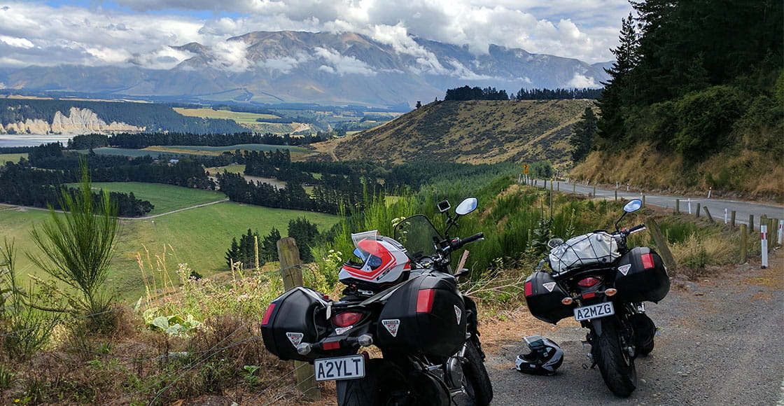 Touring in a european valley