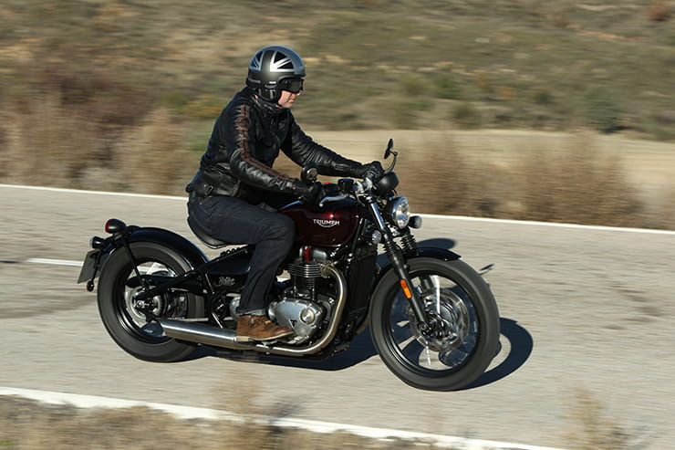 New for 2017, the stylish Bonneville Bobber