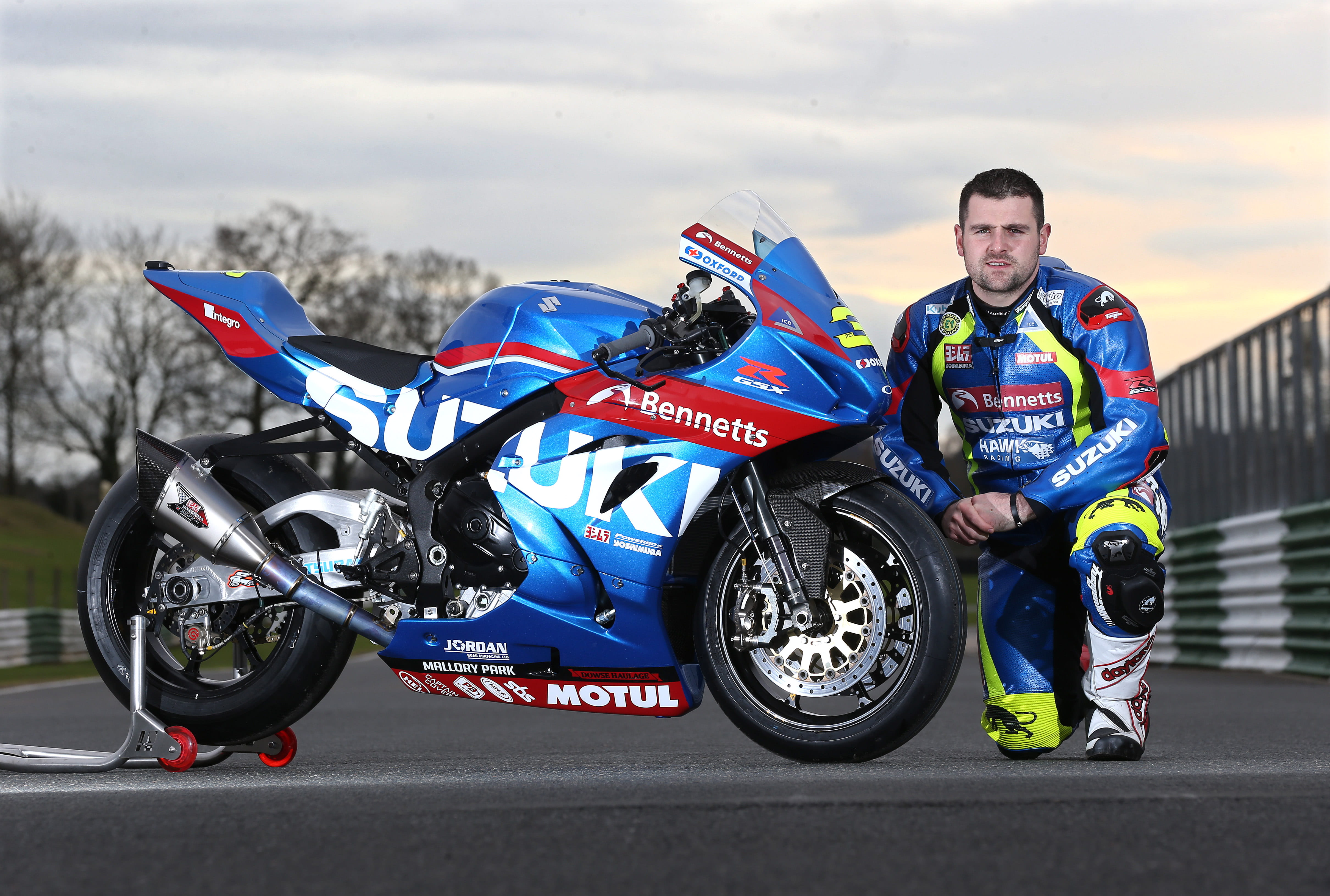 Michael Dunlop races for the Bennetts Suzuki by Hawk Racing Team in 2017 at the Isle of Man TT