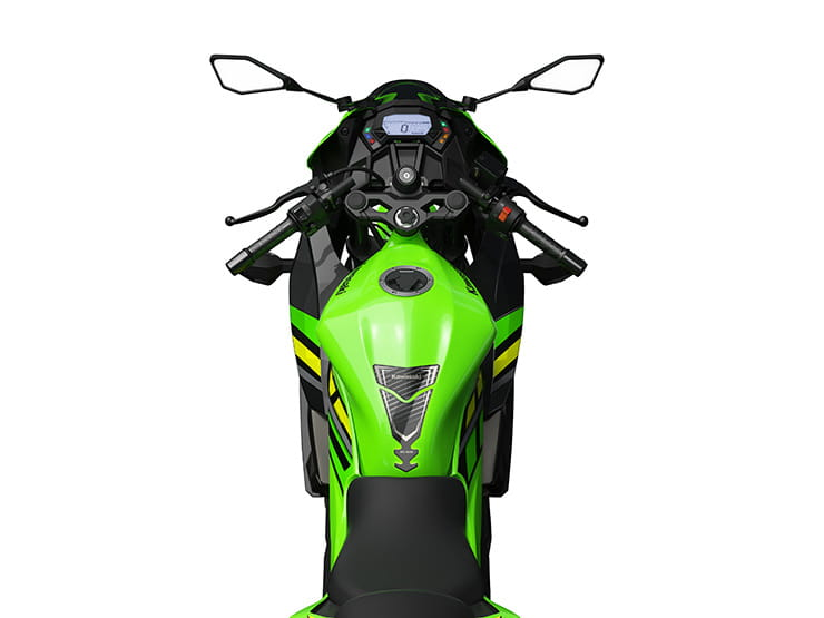 Overhead view of the 2019 Kawasaki Ninja 125