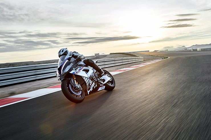 BMW HP4 RACE on track