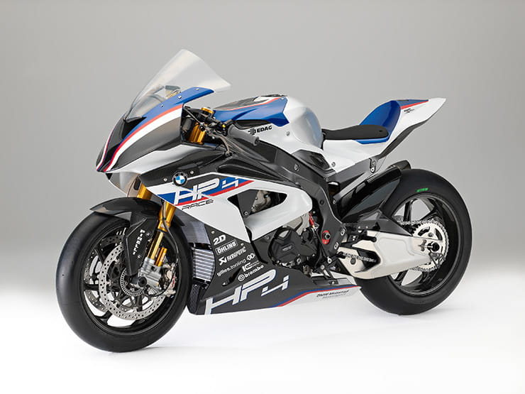 Left side of the BMW HP4 RACE