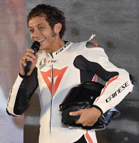 Valentino in Daniese Mugello R suit