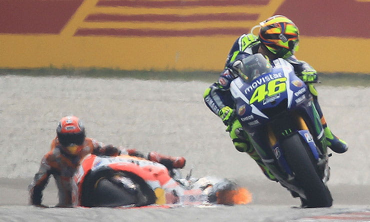 Rossi and Marquez clash