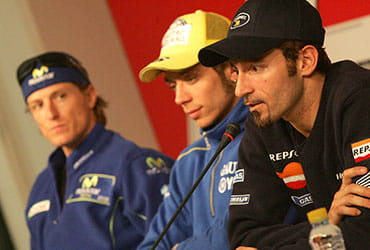 Rossi, Gibernau and Biaggi