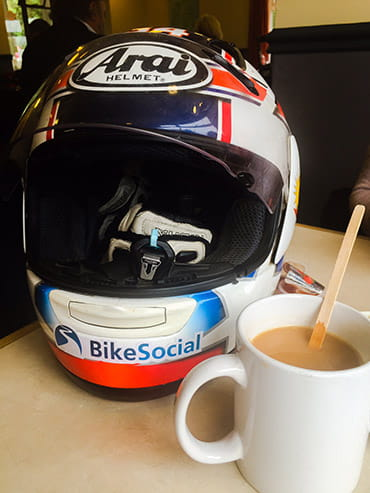 Tea and helmet