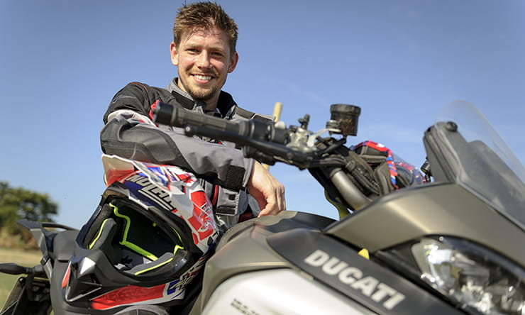 Casey Stoner with Ducati Multistrada Enduro
