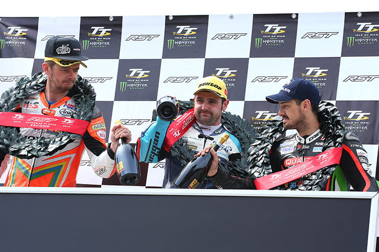 (l-r) Cummins, Dunlop and Hillier on the podium