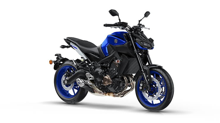 Yamaha MT-09 available in three colours: Race Blu