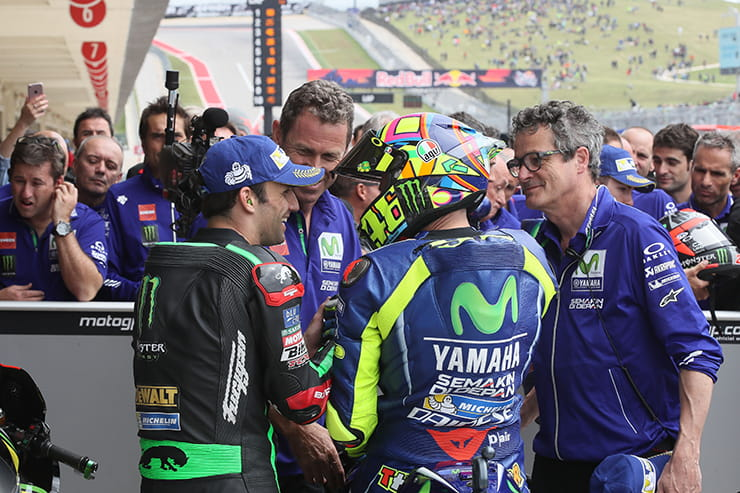 Zarco and Rossi were pals after qualifying
