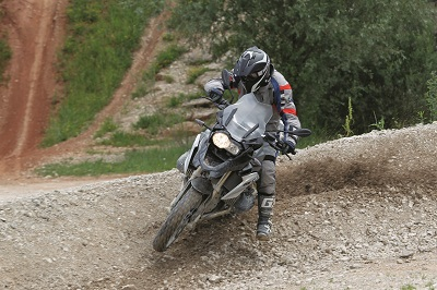 BMW GS takes on a motocross track