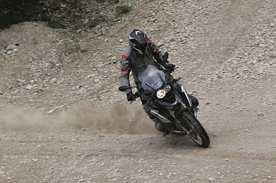 BMW R1200GS gets sideways!