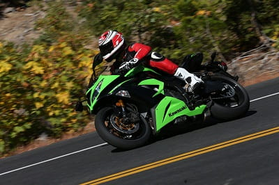 ZX-6R was in its element on twisting roads in California