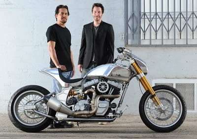 Keanu Reeves and Gard Hollinger of Arch Motorcycles