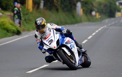 Guy Martin on his Superbike at last year's TT