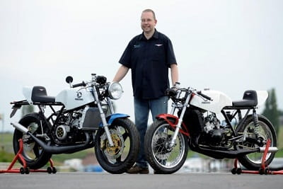 The Perergine Motorcycle Company's new 392cc two-strokes
