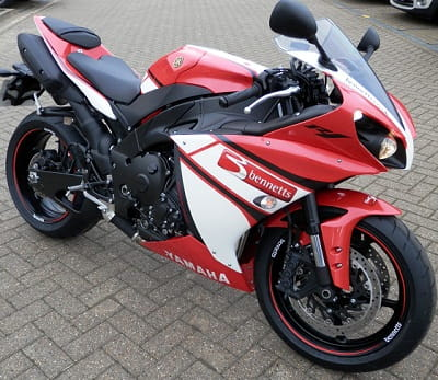 Bennetts Yamaha R1 - look out for it as we ride it around the country this year