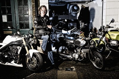 James May at home with some of his bike collection. Picture copyright Adam Duckworth