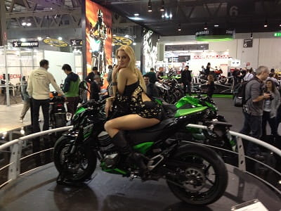 Kawasaki's Z800 seen hear at the Milan Show