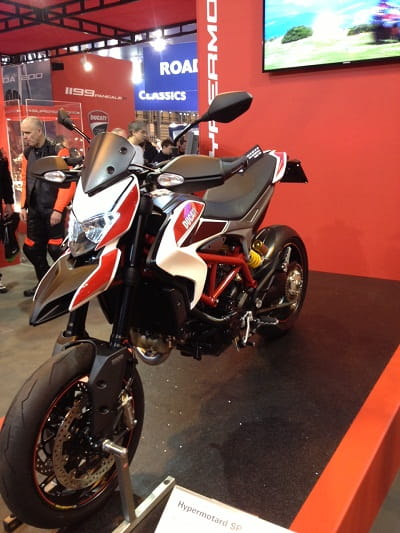 All-new 820cc liquid-cooled Hypermotard SP looking foxy at Ducati