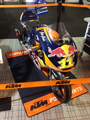 KTM have a full display of road and race bikes from the world's of dirt and road racing