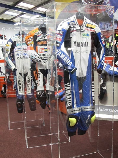 Cal Crutchlow's leathers are just part of the collection of memorabilia