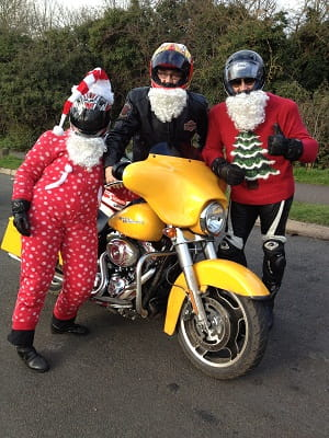 Bennetts and Bike Social joined forces with Rutland HOG for Sunday's Toy Run. L to R: Raynor Risbridger, Marc Potter, Micheal Mann