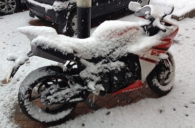 It maye not look that inviting, but use our advice and we will help make riding through winter fun. Honest!