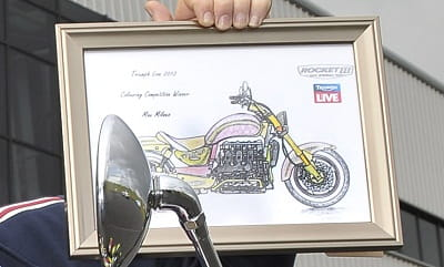 The drawing that Milne entered into Triumph's competition