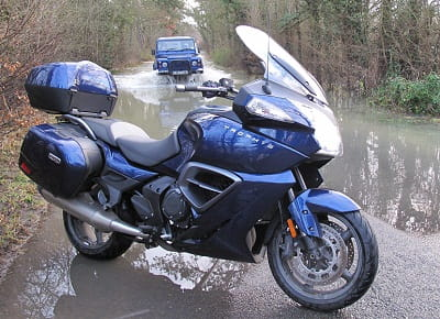 Triumph's 1200 Trophy SE will take you most places, just not through floods!