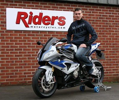 Jessopp back in BSB in 2013 and seen here on a BMW S1000RR HP4